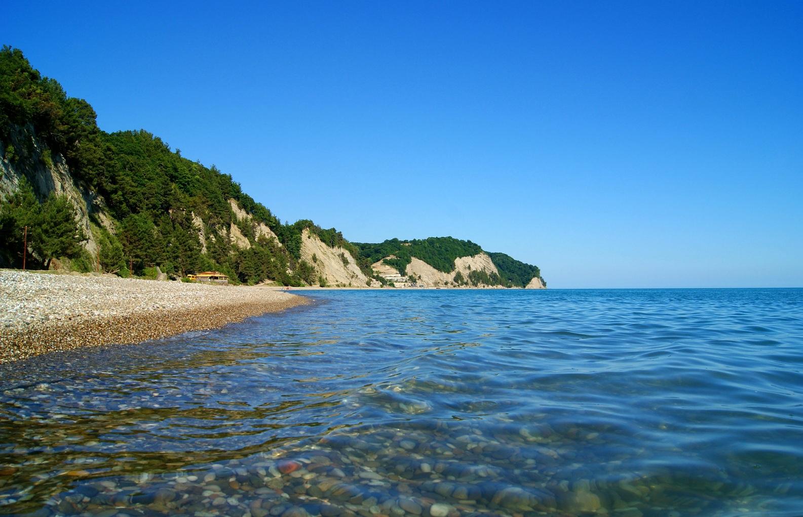 представлено большое лдзаа пляж в абхазии фото раскладываем полу, отделяя